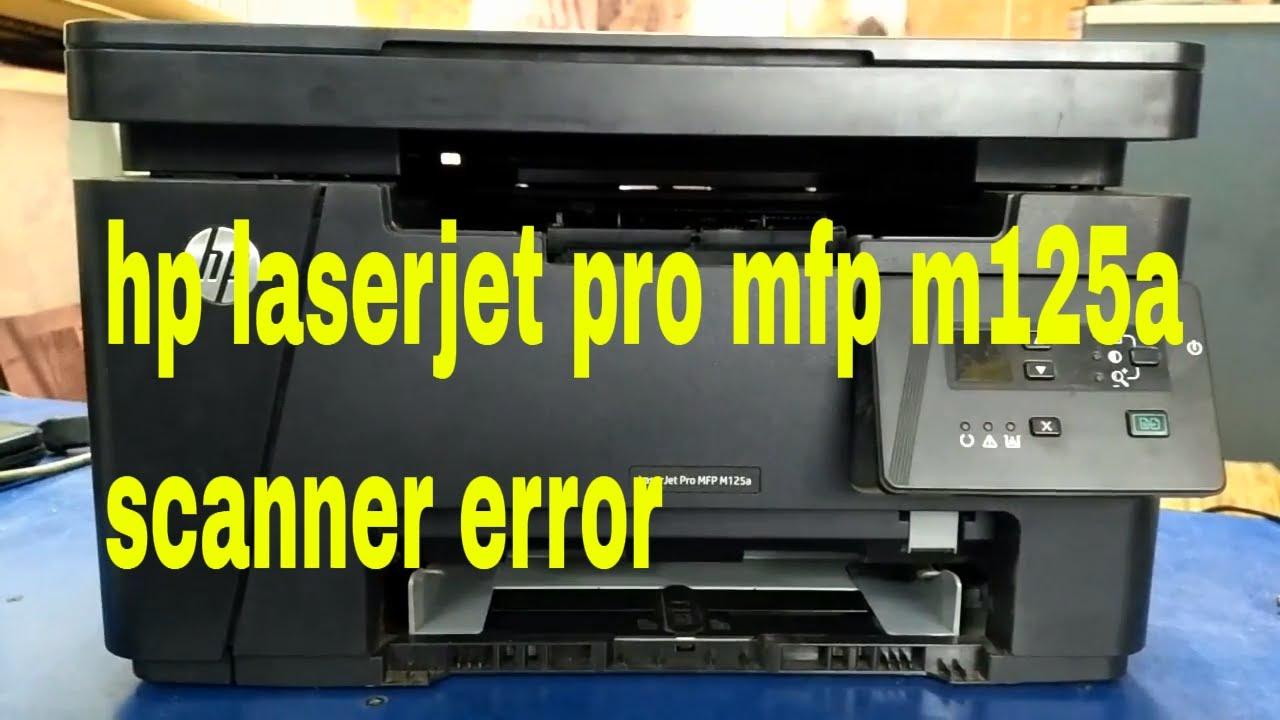 hp laserjet pro mfp m125a scanner error