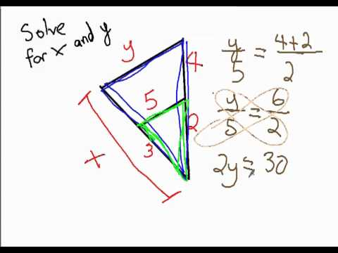 Triangle Inside Triangle Proportions Geometry Help