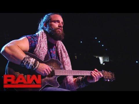 Elias debuts a new ballad: Raw, Jan. 15, 2018