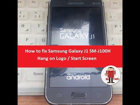 How to fix Samsung Galaxy J1 SM-J100H Hang on Logo / Start Screen