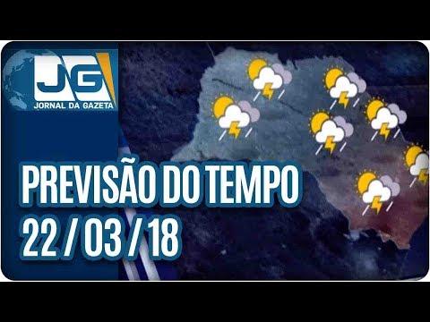 Previsão do Tempo - 22/03/2018