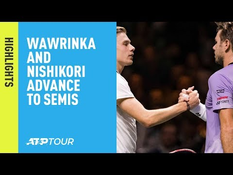 Highlights: Wawrinka, Nishikori Advance On Friday In Rotterdam 2019