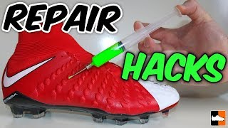 One of Football Boots's most viewed videos: Ultimate Repair Hacks! Best Ways To Fix Your Boots!