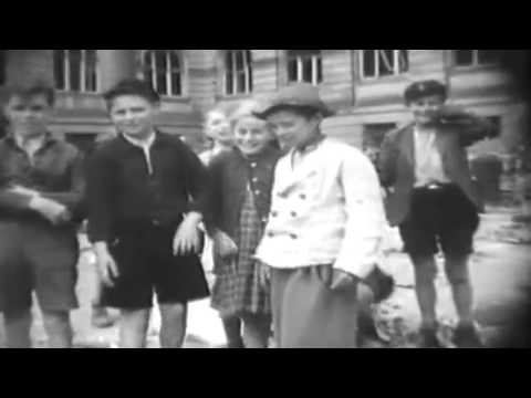 Post WW2 Cologne, Germany, 1945: Kids Burn Hitler's Photo (full)