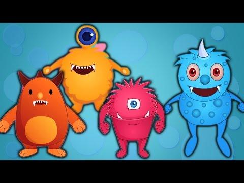 cinq petits monstres   enfants chansons populaires   comptines   Five Little Monsters