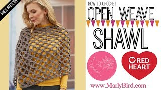 How to Crochet Simone's Open Wave Shawl