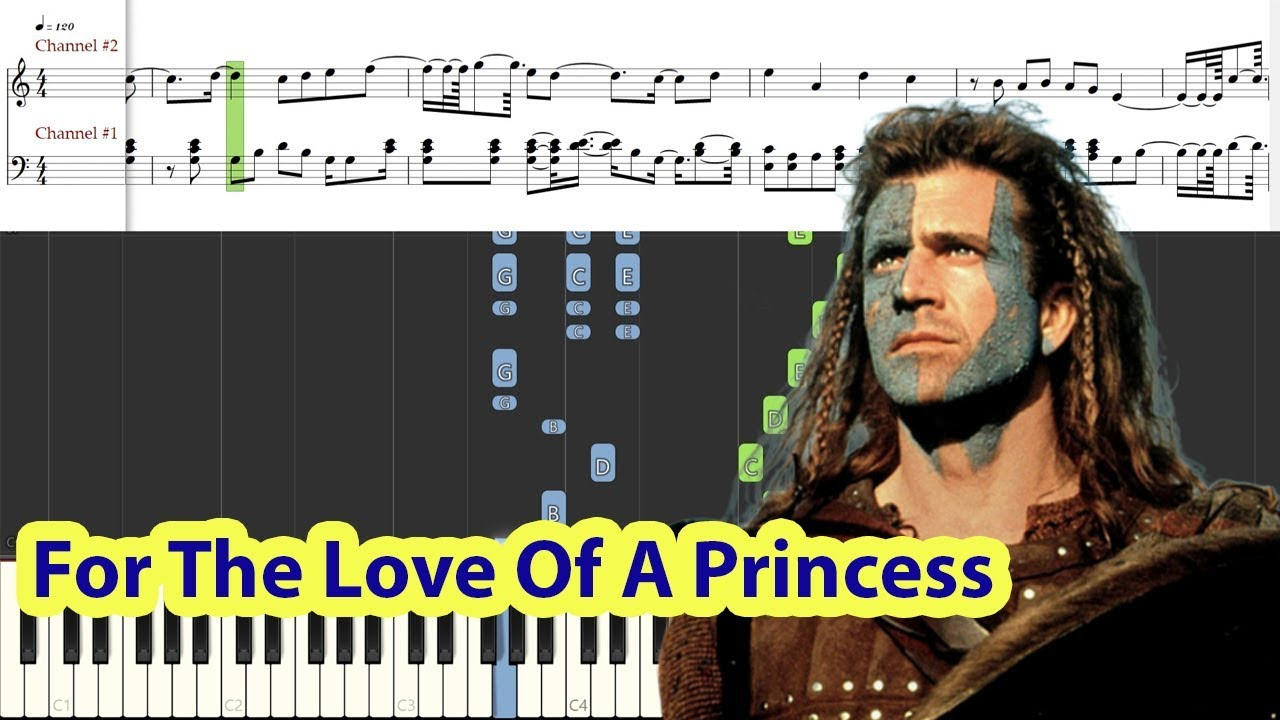 Piano Tutorial For The Love Of A Princess Braveheart Ost Myleene Klass Youtube