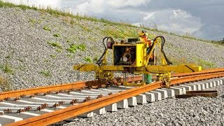 WoW! World Amazing Modern Railway Construction Machine Compilation. Railway track laying machine