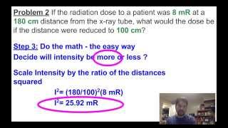XRayBob Inverse Square Law Math Examples