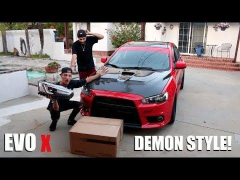 EVO X DEMON STYLE HEADLIGHT INSTALL!