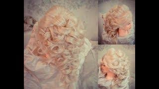 Греческая коса Урок Прическа невесты