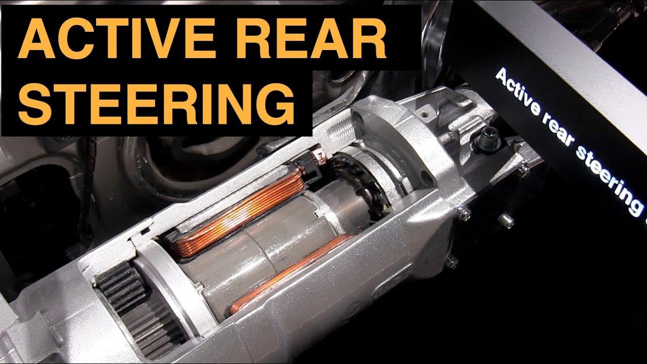 Active rear steering 4 wheel steering explained youtube for Benetton 4 wheel steering