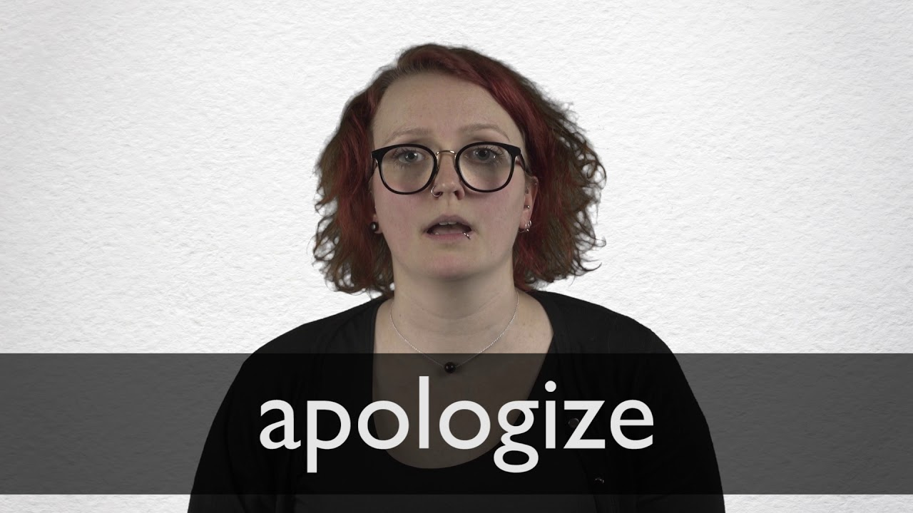 How to pronounce APOLOGIZE in British English