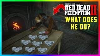 What Happens If You Take This Sleeping Man's Money At The Van Horn Mansion In Red Dead Redemption 2?