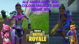 ALLE SINGULARITÄT SKIN COLOUR UNLOCK'S UND INSANE WIN - FORTNITE BATTLE ROYALE