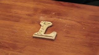 How To Decorate Wooden Letters With Scrapbook Paper : Craft & Decoration Tips