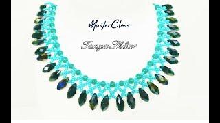 Колье из Бисера и Бусин Мастер Класс! Шикарное Ожерелье из Бисера и Бусин МК/ Beaded necklace!