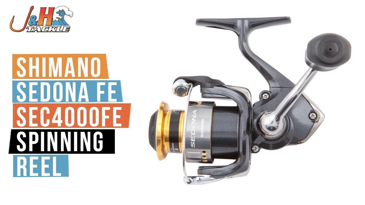 12c1a5a4acb Shimano Sedona FE SE4000FE Spinning Reel | J&H Tackle - YouTube