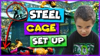 WWE Action Figure Set Up - WWE Toy Steel Cage For Wrestling Figures