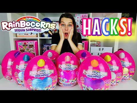 RAINBOCORNS! 3 EASY HACKS: HOW TO FIND the RAINBOCORN U WANT! Rainbowcorn Unicorn Sequin Surprise