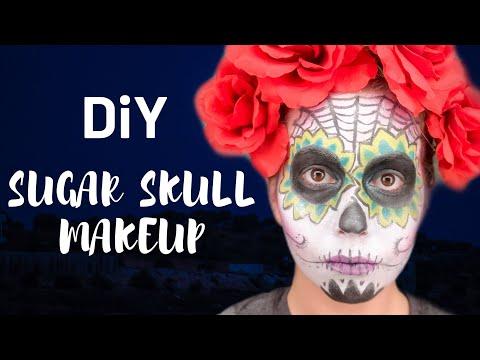 DIY Sugar Skull Makeup Tutorial | How to do Sugar Skull Makeup | Halloween Makeup