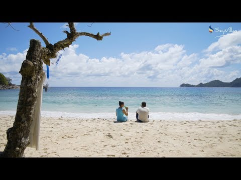 "Strand ""Anse Takamaka"", Mahé, Seychellen"