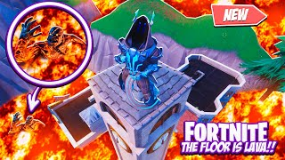 FORTNITE - THE FLOOR IS LAVA AND I'M A BOT!!