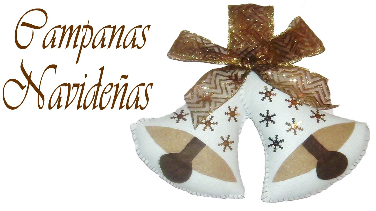 Como Decorar Campanas Navidenas En Icopor.Campanas Navidenas Manualidades Navidenas Christmas Crafts