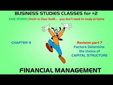 Factors Determine the choice of Capital Structure