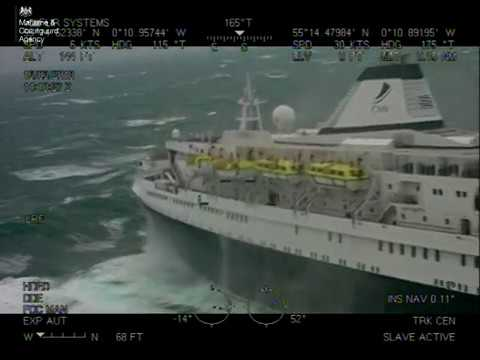 HM Coastguard rescues unwell cruise ship passenger in turbulent conditions off Northumberland coast