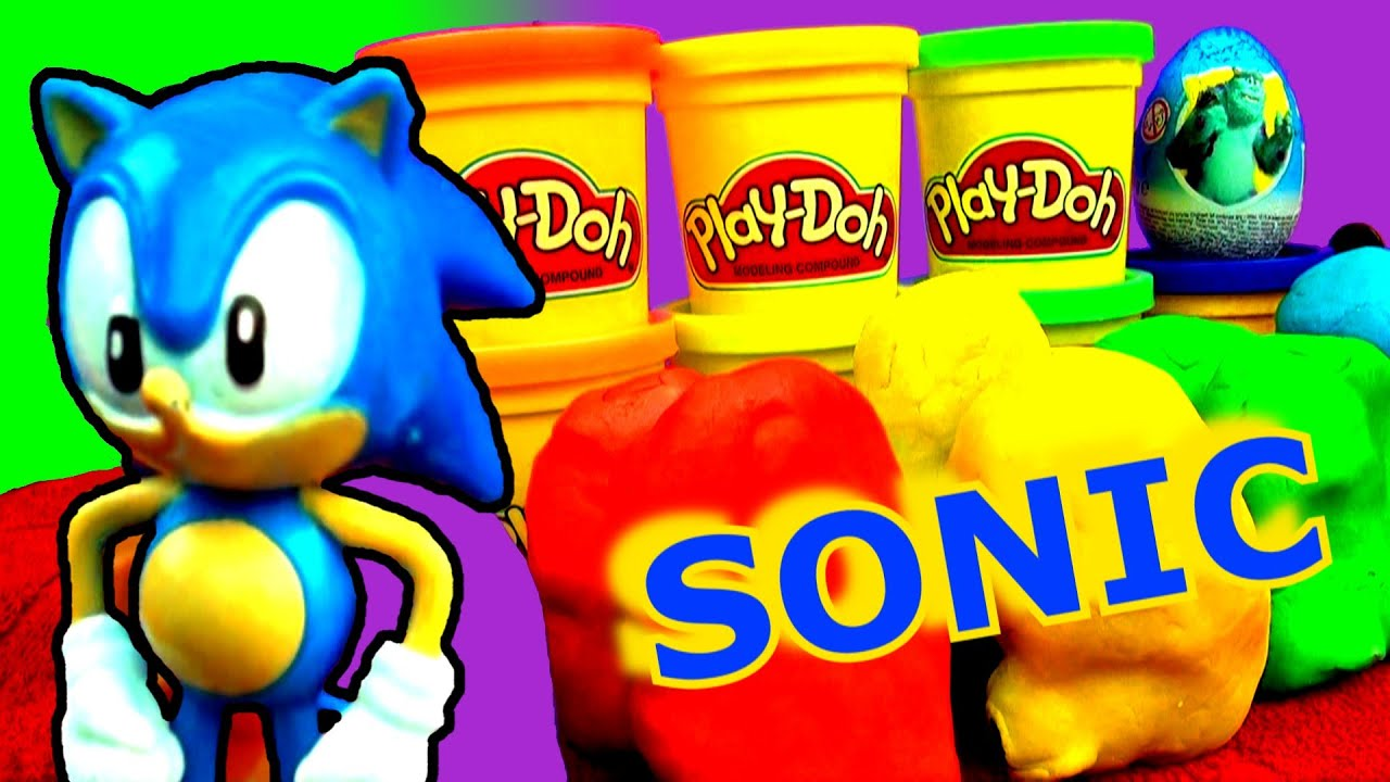 SONIC THE HEDGEHOG Giant Play Doh Surprise Egg - Sonic Boom Mario ...