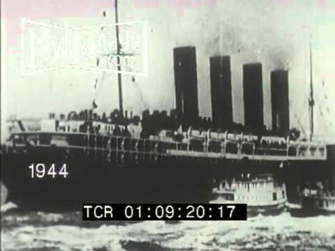 1915 The Lusitania: Launch, Sinking, and Survivors  Stock Footage