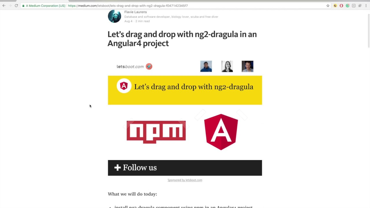 Let's drag and drop with ng2-dragula in an Angular4 project