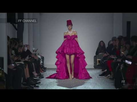 Models trip and fall during Giambattista Valli Haute Couture Spring/Summer 2019 fashion show