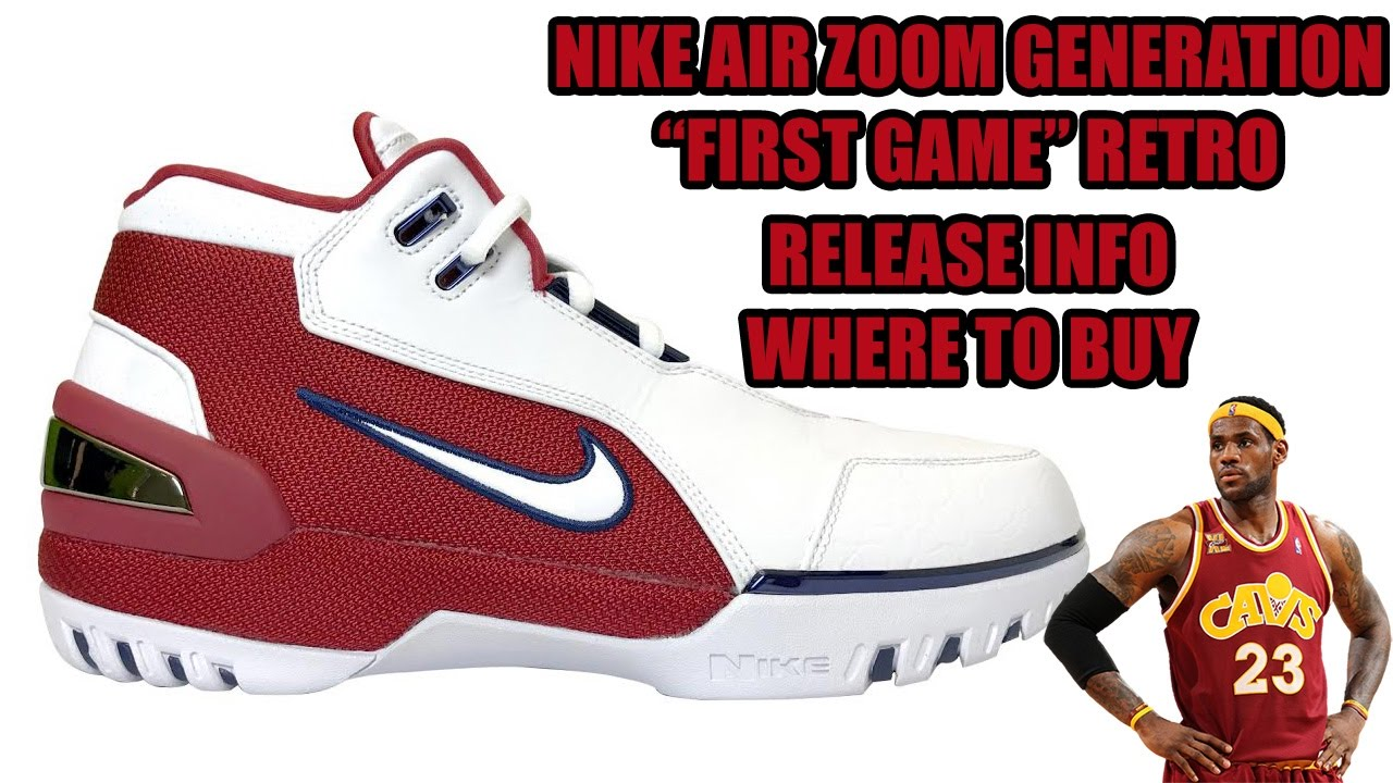5b1e43e3a4f Nike Air Zoom Generation First Game Retro Release Info + Where to Buy -  YouTube
