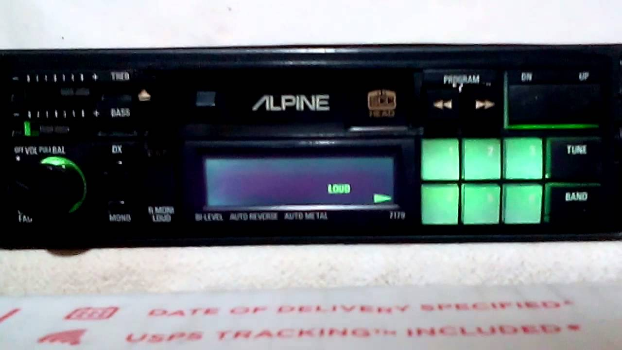 Ac Delco Stereo Wiring Diagram Vintage Alpine 7179 Am Fm Car Stereo Cassette Tape Youtube