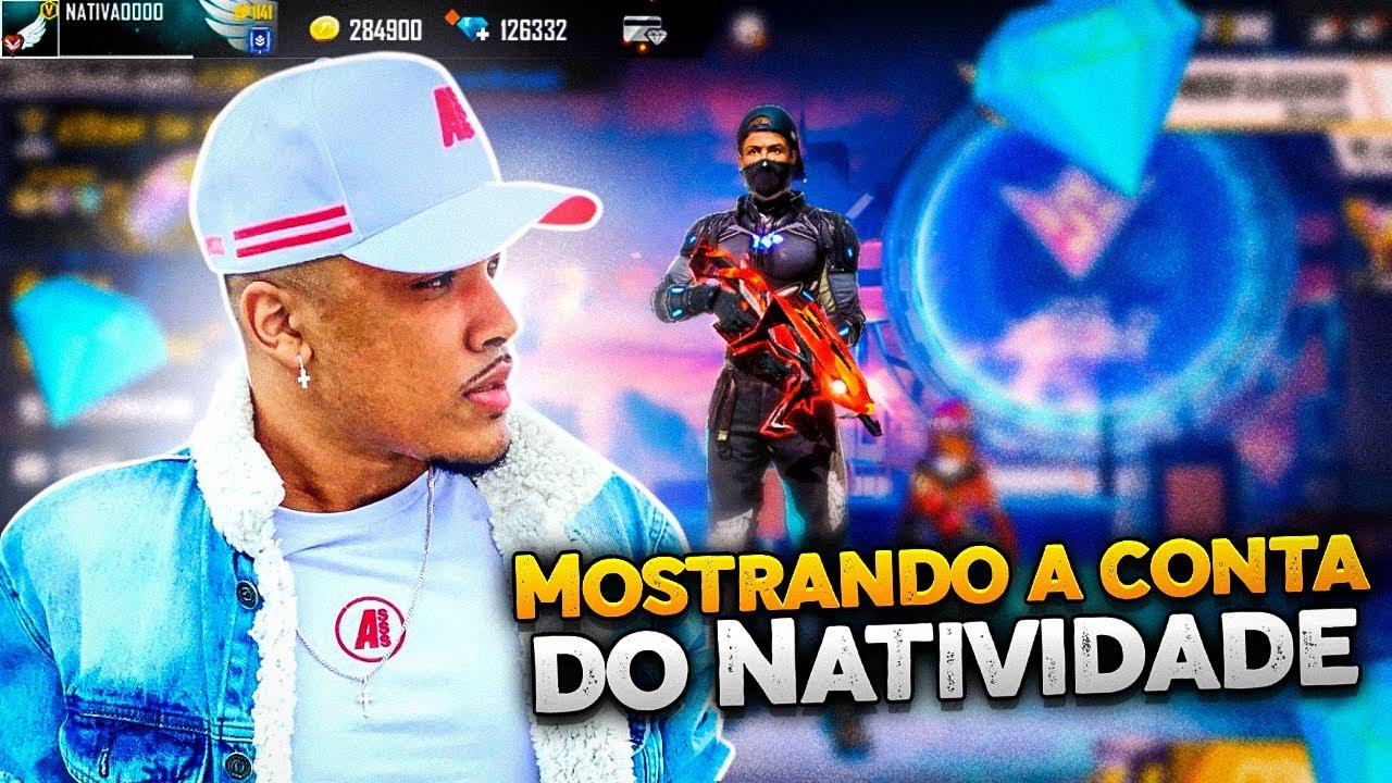 MOSTRANDO A CONTA DO NATIVIDADE! TROLLEI A CONTA DELE !? - FREE FIRE