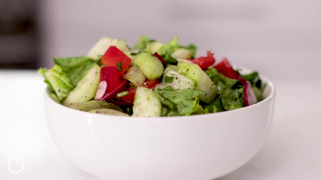 Middle Eastern Syrian Salad (With Video) - The Lemon Bowl®