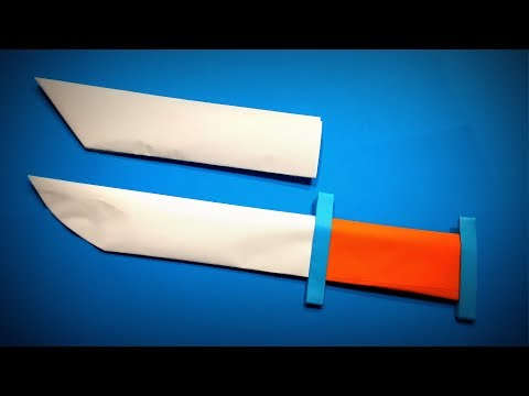 How to Make a A4 Paper Knife / Sword / Dagger DIY   Easy Origami ART   Paper Crafts