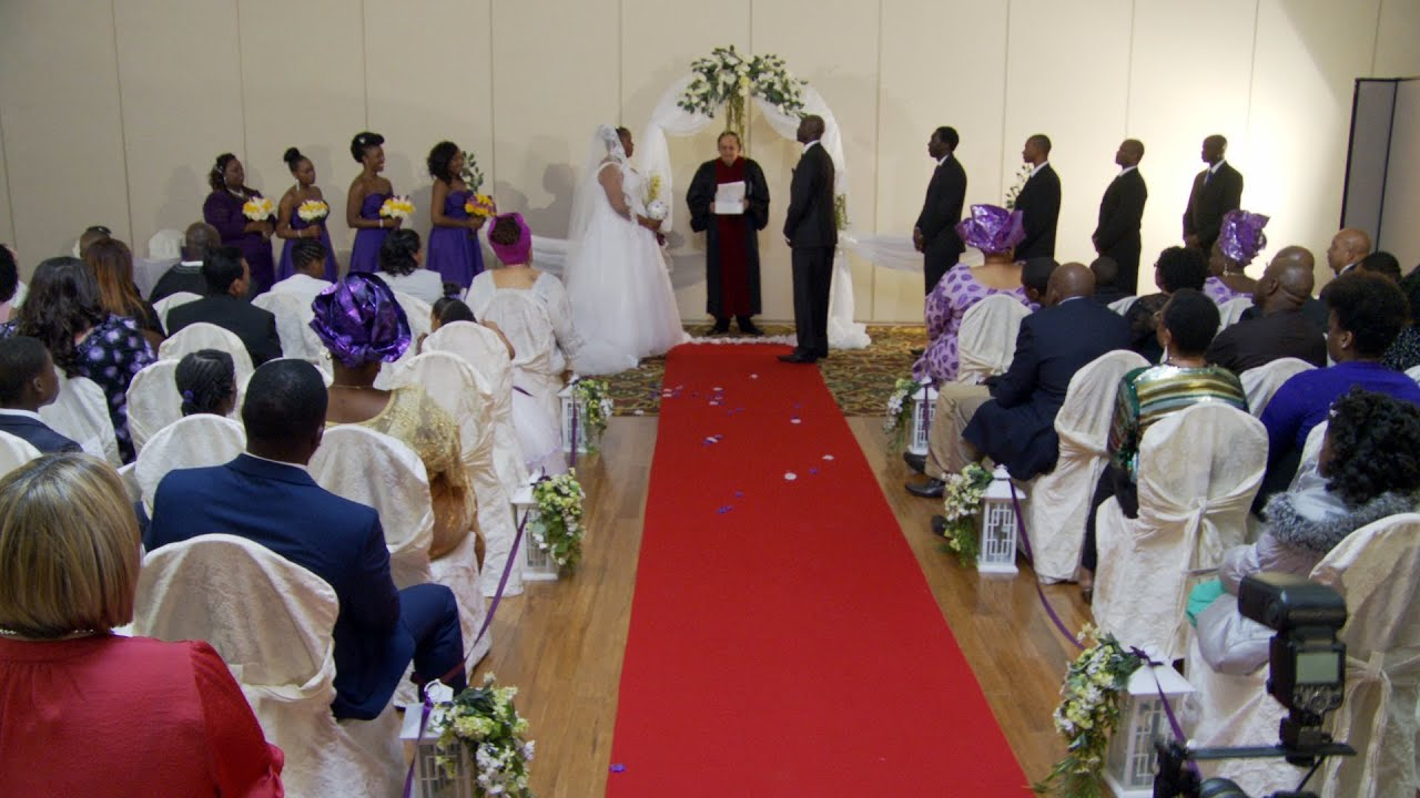 Exchange of Marriage Vows Wedding Rings at A Nigerian Wedding