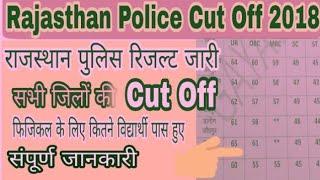 Rajasthan Police Physical cut off 2018 // फिजिकल की कट ऑफ फिजिकल में कितने विद्यार्थी पास हुए
