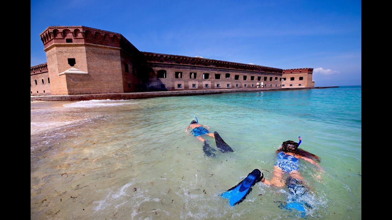 Florida Travel Dry Tortugas Seaplane To Snorkeling Youtube