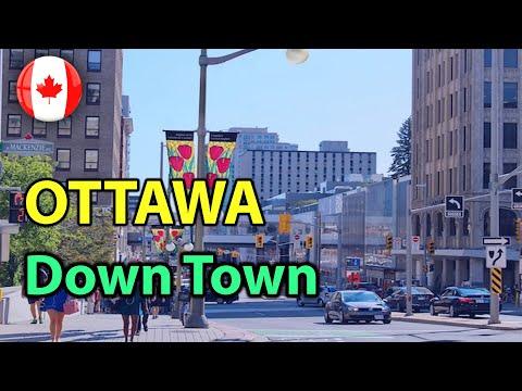 Ottawa Ontario Canada downtown - 4K | Ottawa downtown Street Walking Tour | Explore | 2021
