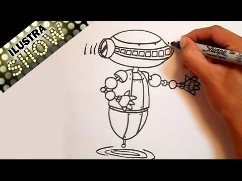 Worksheet. Dibujar Un Robot Tutorial ILUSTRA SHOW  YouTube
