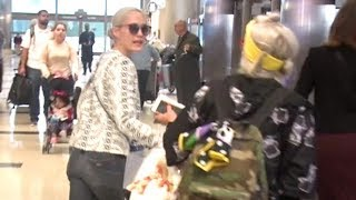 Pom Klementieff Argues With Girlfriend At LAX After Long Flight From Hong Kong EXCLUSIVE