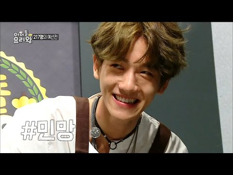 【TVPP】 SUHO, Baekhyun(EXO) - Fail to make the fried eggs, 수호, 백현 - 지단 창시 실패 @Idol Chef King