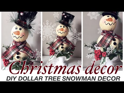 DOLLAR TREE DIY Christmas 2019 decor | rustic snowman | Christmas Crafts