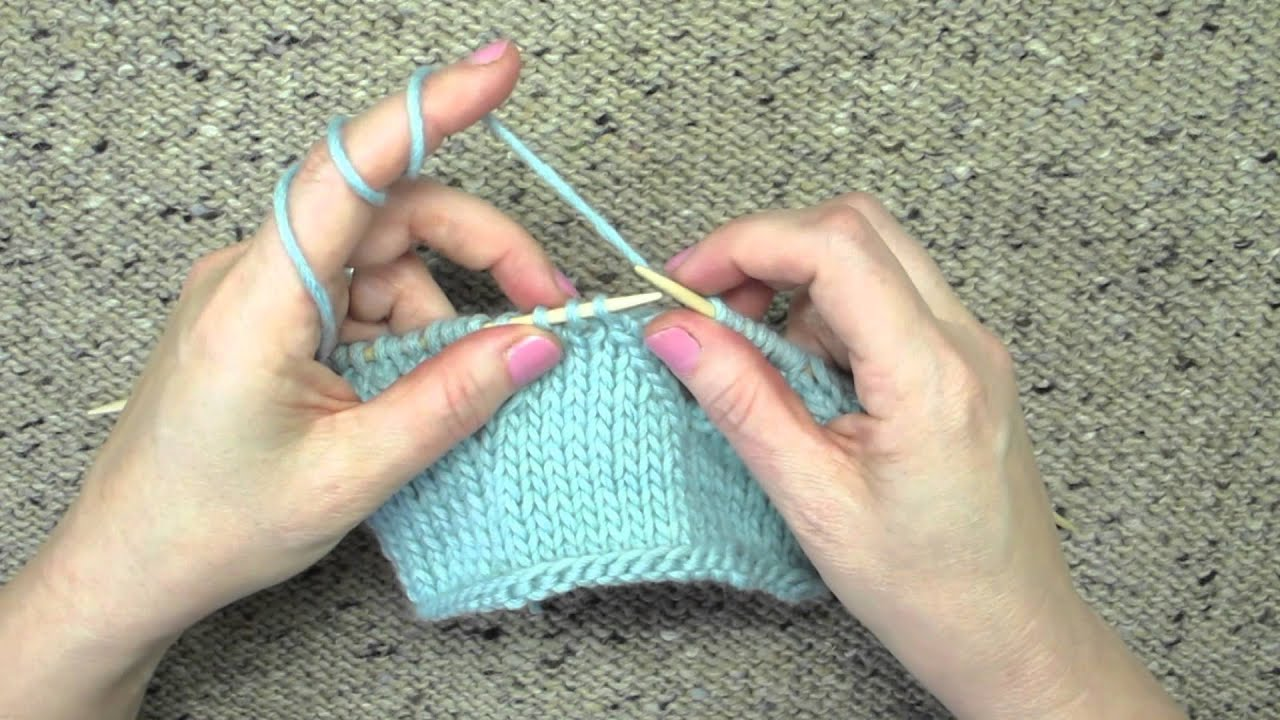 Knitting Technique Central Double Decrease - YouTube
