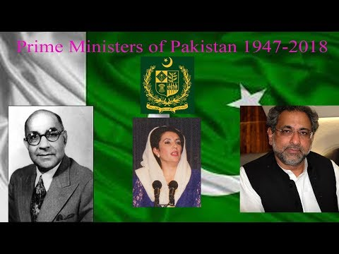 Prime Ministers of Pakistan (1947-2018)