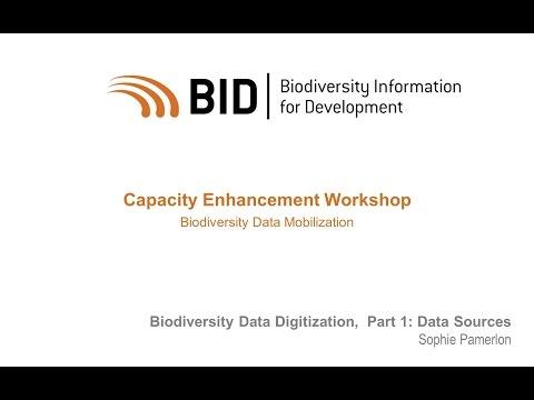 BID Workshop - Activity VI.01 Part 01 - Biodiversity Data Sources